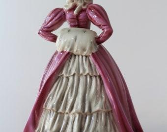 "Keramos Figurine ""Vivian"" Lady with the Muff Biedermeier Style Figurine"