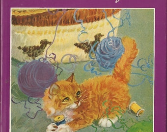 MITZI, Diana Thorne, orange kitten, cats, rare book, hardcover in dust jacket, first edition