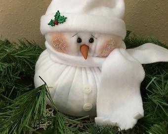 """Winter Christmas PDF Snowman Pattern - """"puff ball"""" -  show best seller"""