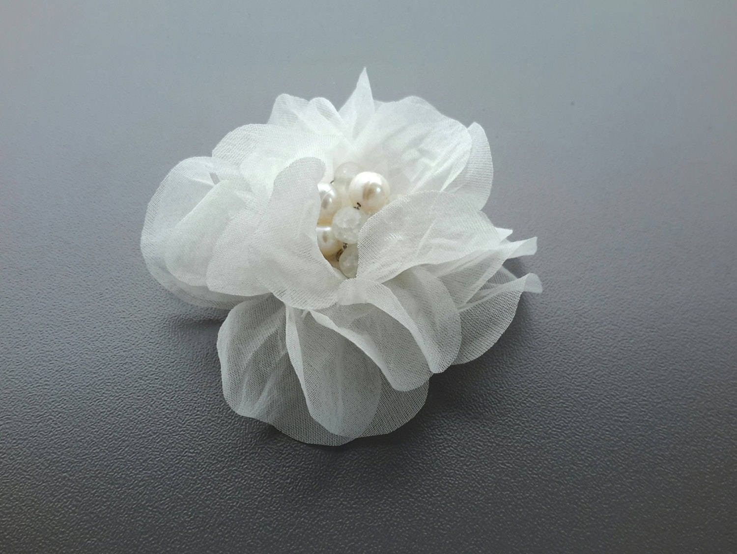 Bridal Silk Flower Hair Clip Wedding Hair Accessories Pearl