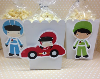 Racecar Party Popcorn or Favor Boxes