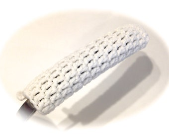 White Crocheted Pot Handle Cover