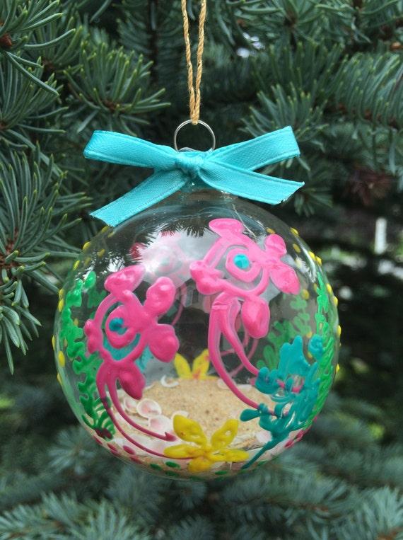 Tropical Fish Christmas Beach Ball Ornament