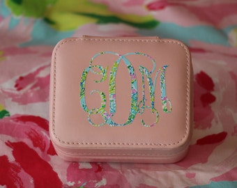 Lilly Pulitzer Inspired Travel Jewelry Case