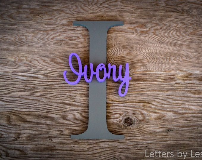 Large -Capital Letter with Name - Custom Nursery Decor - Personalized name on Large Letter