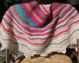 Happy Crescent Shawl Wrap