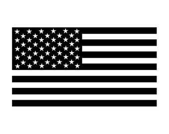 American Flag Decal Sticker - Yeti Tumbler, Truck, Car, Laptop, Window, Wall Vinyl Decal