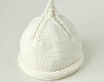 baby KNITTING PATTERNS - newborn to 5 years beanie hats - Classic Pixie Beanie