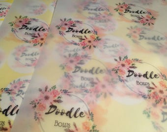 A4 translucent custom wrapping paper| gift bag | packaging