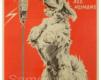 KA05 Vintage Be Kind to Animals Poster Print