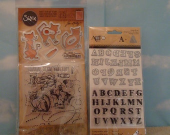 Sizzix Clear  Rubber Stamps  and Dies