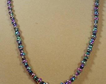"22"" Titanium Crystal Pendant Necklace - N490"