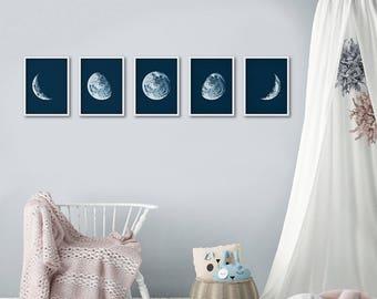 Moon Phases Set, Moon Phases Prints, Moon Phases Prints, Moon Phases Wall Art, Moon Prints, Moon Posters, Moon Poster, Wall Decor