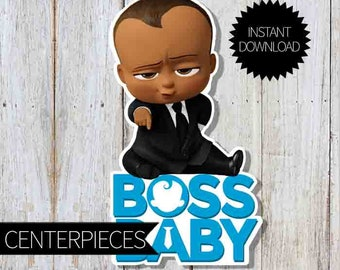 African American BOSS Baby Birthday Party PRINTABLE Large Centerpiece- Instant Download | DreamWorks | The Boss Baby Movie| Boss Baby Sign