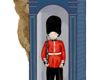 Guardsman and Bear Print