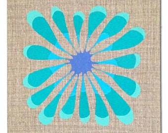 "Embroidered Wall Hanging - ""Flower Pop"""