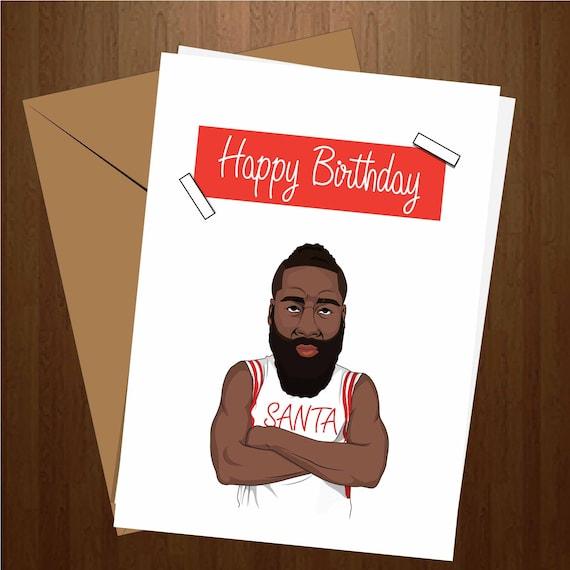 Houston Rockets Funny: James Harden Card Harden Birthday Card Funny Birthday Card