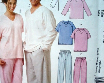 Easy Stitch 'N Save by McCalls Pattern M5504 Misses, Men's and Teen Boys Tops, Shorts and Pants Size Lg-Xl  UNCUT Factory Folded Pattern