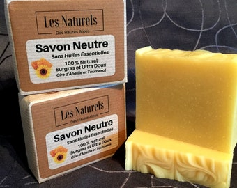 Natural handmade cold SOAP without essential oils, Ultra soft, sensitive skin 110 g
