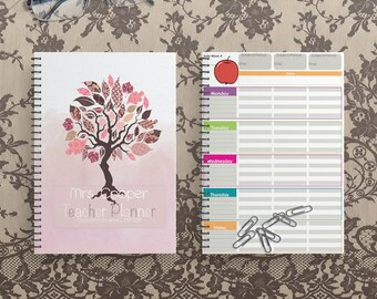 Teacher Planner 2018-2019 - Teacher Planners - Lesson Planner - Teacher Plan Book - Personalized Teacher Planner  - Teacher Planners 2018