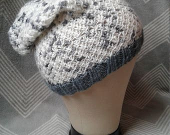 Knitted Slouchy Beanie, Adult Hat, Toddler Slouchy hat, Light weight Slouchy Beanie, Slouchy Hat, Boho Slouchy Beanie, Twisted Slouchy Hat