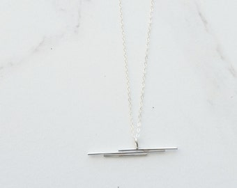 COLUMN.... triple bar necklace, column necklace, bar necklace, minimal necklace, minimal bar necklace, minimal charm necklace