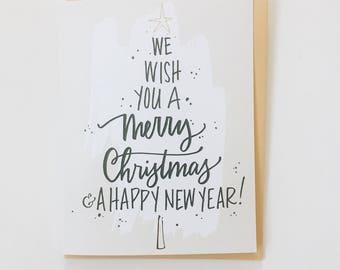 We Wish You A Merry Christmas- Christmas greeting card