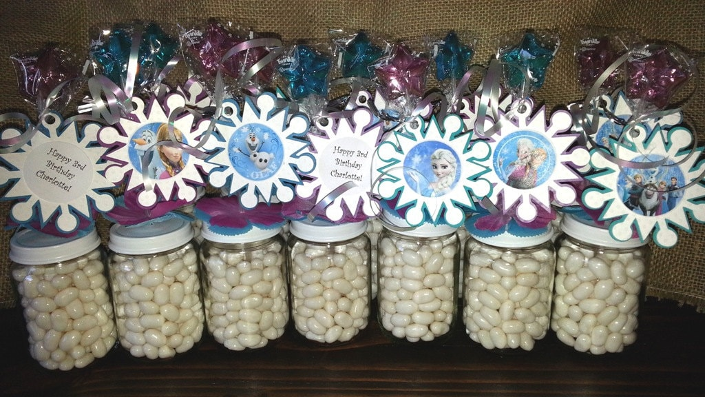 Personalized Disney Frozen Party Favors Baby Food Jar