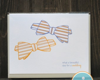 What a Beautiful Day For A Wedding - Same-Sex Wedding Card