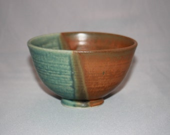 Green and Rustic Brown Ceramic Bowl, Kitchen Clay Bowl, Unique Dips Bowl,Modern Home Decor