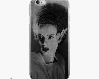 Vintage BRIDE of FRANKENSTEIN iPhone Case, Chalkboard Art 7 8 X Case, iPhone 6s case, iPhone 6 plus Cover, Gothic Glam Halloween