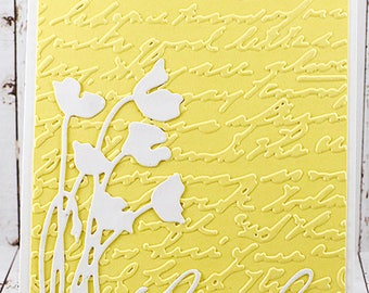 Handmade Embossed Thank You Greeting Card
