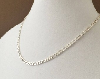 """Sterling Silver Figaro Necklace 18"""" x 5mm (14.9 grams)"""