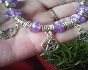 Pagan Wiccan Namaste, Reiki and Healers, Euro style bracelet