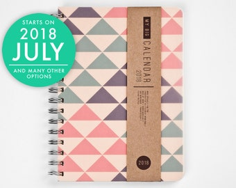 2018-2019 Planner - Weekly Planner - 2018-2019 Weekly Planner - 2018 Agenda - A5 planner - Minimal triangles triangle open-dated available