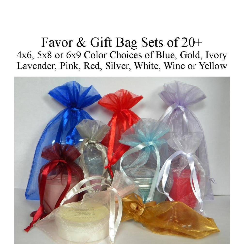 Brand-new Favor Bags 4x6 5x8 5x7 6x9 Gift Bags Organza Bags Wedding TT71