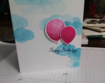 Birthday Card-Balloons