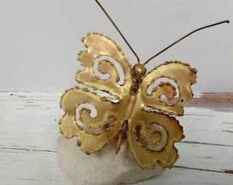 Vintage Butterfly Mid Century Sculpture Metal