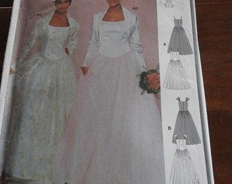 Burda 8794 Women''s Wedding Dresses With Jackets OOP Sewing Pattern