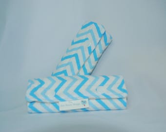 Car Seat Strap Covers- Boy, Strap Covers, Drool Pads, Baby Shower Gift, Baby Gift, Blue Chevron