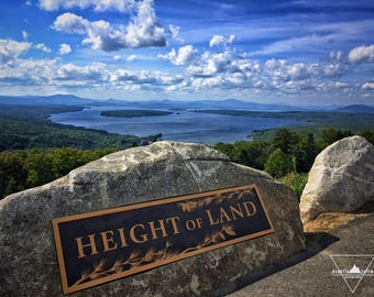 Height of Land sign - Rangeley, Maine - Photography