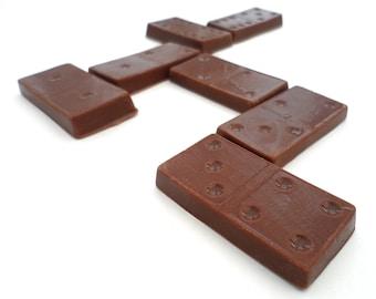 Chocolate Dominoes Set, Domino Chocolate Gift, Dominoes Chocolate Party Favour, Milk Chocolate Domino Pieces, Belgian Chocolate Game