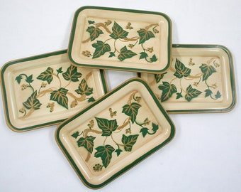 Ivy Metal Mini Tray Collection - Set of Four
