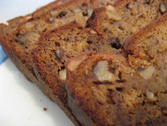 Banana Nut Bread, 3 Loaves of Homemade bread, Moist Delicious gourmet Banana Bread. FREE SHIPPING holiday gift family gift idea