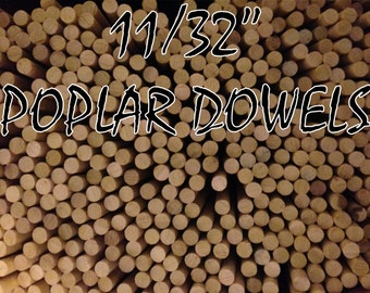 "ON SALE --- 12 Arrow Shafts - 11/32"" Poplar Shafts - Wood Archery - Perfect for Custom Arrows"