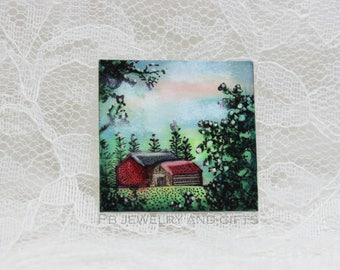 The Barn miniature dollhouse wall art