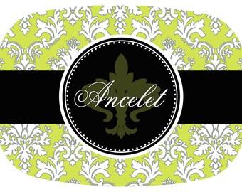 Personalized Fleur de lis Platter