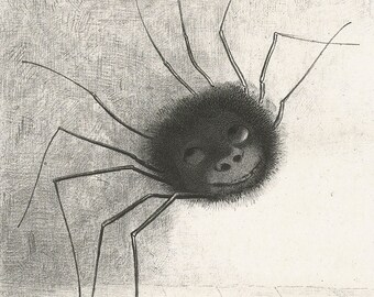 "Odilon Redon : ""The Spider"" (1887) - Giclee Fine Art Print"