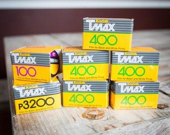 7 Rolls Of Expired Kodak T-Max 35mm Film (various Speeds)