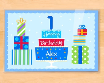 Personalized Birthday Placemat, Kids Placemat, First Birthday, Happy Birthday Placemat, Laminated Placemat, Birthday Gift, 2nd Birthday, Boy